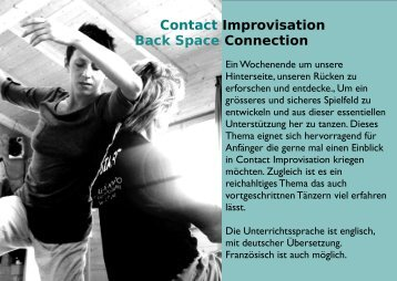 Flyer... - Contact Improvisation