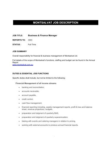 It Business Manager Job Description. Image Gallery Of Inventory