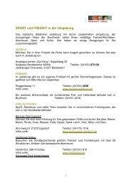 SPORT_FREIZEIT in der Umgebung  - TAGUNGSHOTEL Jesteburg