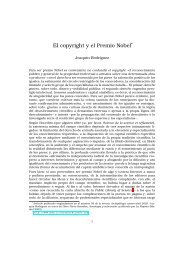 El copyright y el Premio Nobel* - BiblioWeb de SinDominio
