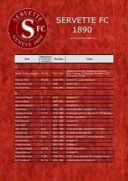 SERVETTE FC - Super Servette