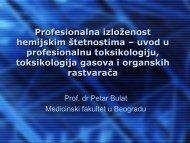 7. Професионална изложеност хемијским штетностима