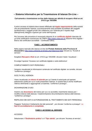 Guida alla compilazione - Portale Ambiente della Provincia di ...