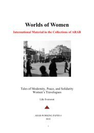 Tales of Modernity, Peace, and Solidarity - Women's Travelogues