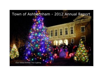 2012 annual town report - Town of Ashburnham, Massachusetts