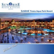 SUNRISE Tirana Aqua Park Resort - Sunrisehotels-egypt.com