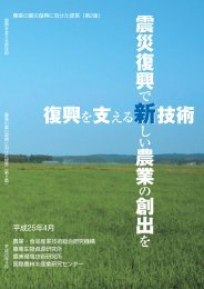 (第2版) 「復興を支える新技術」 - 農業・食品産業技術総合研究機構