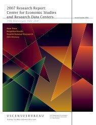 2007 Research Report: Center for Economic ... - Census Bureau