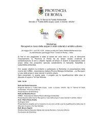 Programma - Autorità di Bacino del fiume Tevere