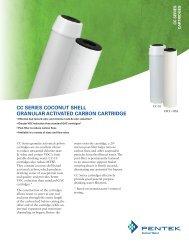 CC SerieS COCONUt SHeLL graNULar aCtiVated CarBON ... - Pentek