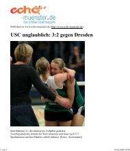 Per E-Mail senden: USC unglaublich 32 gegen Dresden