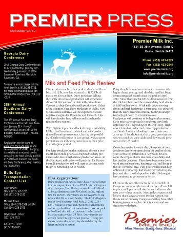 December - Premier Milk Inc.
