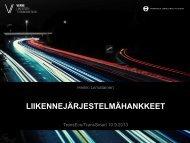 Liikennejärjestelmähankkeet – Heikki Liimatainen (pdf) - TransEco