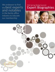 thebest experts and notables Expert Biographies - the Family Office ...