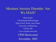 Moisture Anxiety Disorder: Are We MAD? - University of Minnesota
