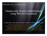 Output-only System Identification using Wavelet Transform