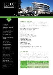 ESSEC Fact Sheet 2012-2013 - Ebap