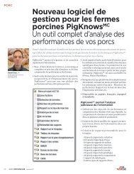 Nouveau logiciel de gestion pour les fermes porcines ... - Agri-Marché