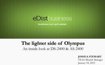 The lighter side of Olympus - eDist Marketing