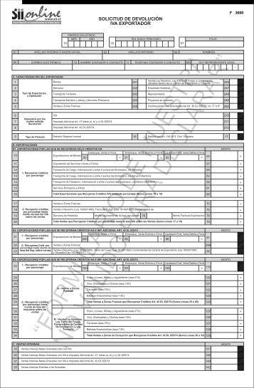 Imagen del Formulario 3600 (pdf) - Servicio de Impuestos Internos