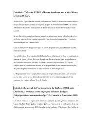 Extrait de : Thériault, C, 2009. « Kruger abandonne son ... - Pistes