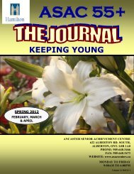 Spring Journal 2012 - Ancaster Senior Achievement Centre