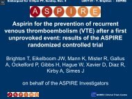 Aspirin for the prevention of recurrent venous ... - Intranet