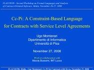 Ugo Montanari, Cc-Pi for Contracts with SLAs, November 27, 2008