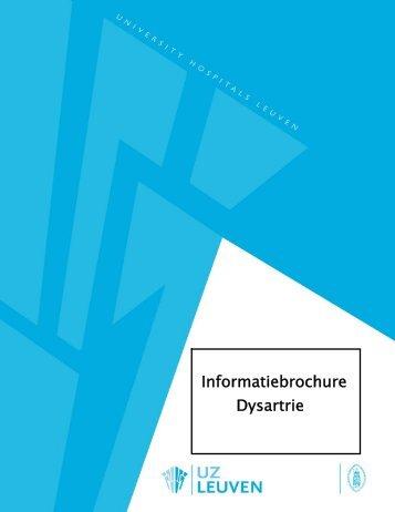 Informatiebrochure Dysartrie - UZ Leuven