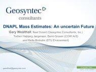 DNAPL Mass Estimates - ATV - Jord og Grundvand