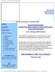 The Harvard University BBS website: November Bulletin - Division of ...