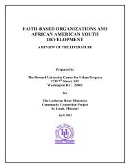 faith-based organizations and african american youth ... - COAS