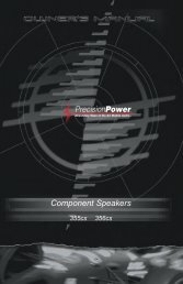 Component Speakers - Precision Power
