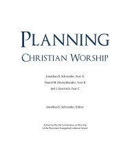 Planning Christian Worship - Year C - festival - Connect - Wisconsin ...
