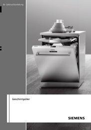 Siemens SR 54E500 Dishwasher User Guide Manual Operating ...