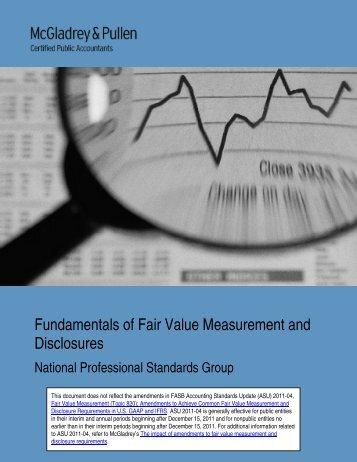 Fundamentals of Fair value Measurement and ... - McGladrey