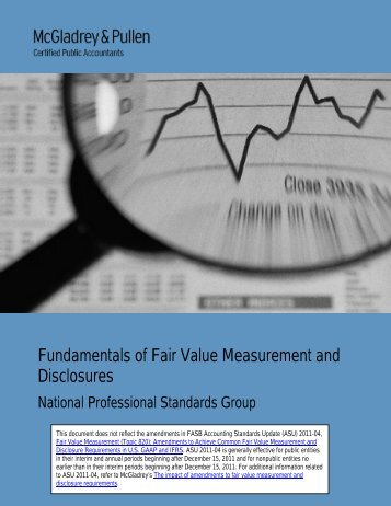 Fundamentals of Fair value Measurement and ... - McGladrey