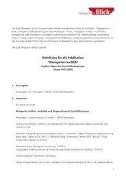 Richtlinien für die Publikation