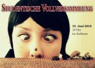 Studentische Vollversammlung Flyer.indd