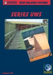 ROOF WALKWAY SYSTEMS - Ullrich Aluminium