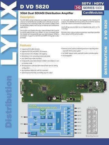 D VD 5820 Rev 1.5.indd - LYNX Technik AG
