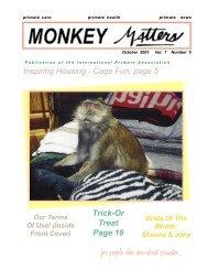Monkey Matters Magazine - International Primate Association