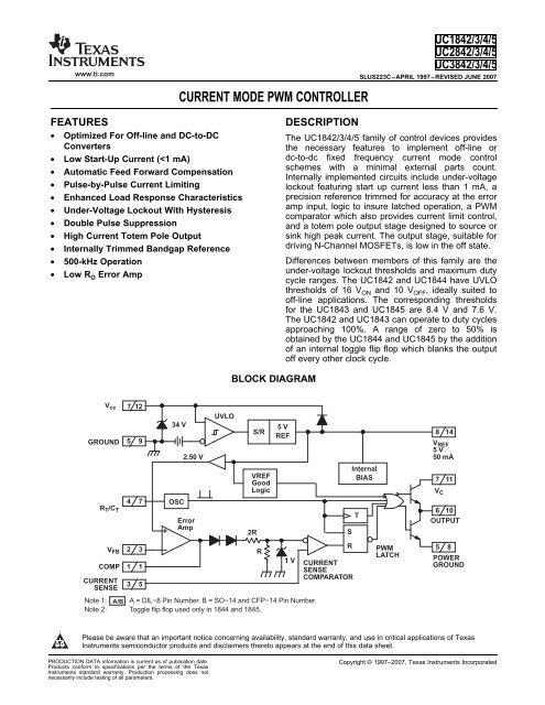 smps uc3842 uc3843 uc3844 uc3845 Current Mode PWM     - 320Volt