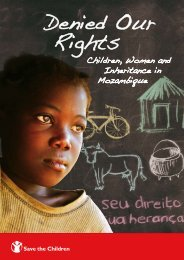 Denied Our Rights - UNICEF Mozambique - Home page