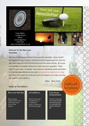 August Newsletter - March Golf Club