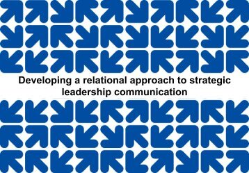 Developing Relational Approaches to Strategic Leadership
