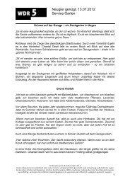 Neugier genügt, 13.07.2012 Service Garten - WDR 5