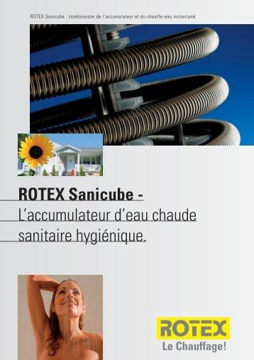 ROTEX Sanicube - L'accumulateur d'eau chaude sanitaire hygiénique.