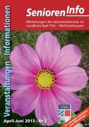 Senioren-Info 2'2013 - Stadt Wolfratshausen