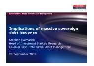 Implications of massive sovereign debt issuance - Australian Centre ...